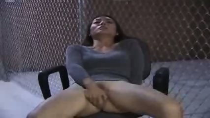 Asian Girl doing herself on a Chair - scene 9