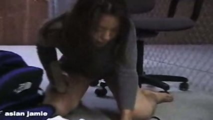 Asian Girl doing herself on a Chair - scene 12