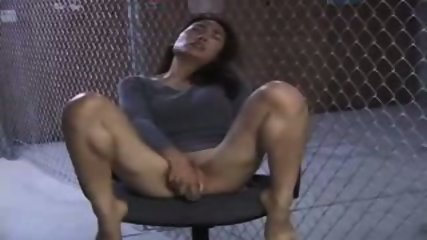 Asian Girl doing herself on a Chair - scene 2