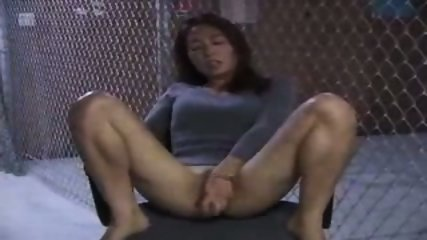Asian Girl doing herself on a Chair - scene 4