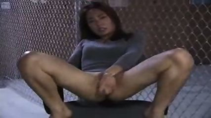 Asian Girl doing herself on a Chair - scene 5