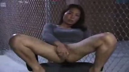 Asian Girl doing herself on a Chair - scene 6