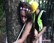 Pretty Brunette Teen Girl Jaye Austin Fucked In The Woods