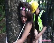 Pretty Brunette Teen Girl Jaye Austin Fucked In The Woods
