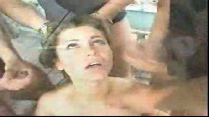 Hot Chick having Fun with three Dicks - scene 12