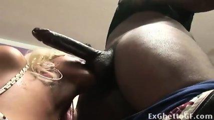 Hood Slut Deepthroats A Hard Black Dick