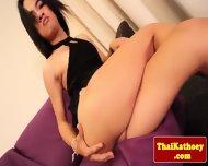 Thai Tgirl In Revealing Lingerie Teases