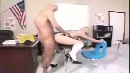 Alluring blonde chick Kylee Reese gets rammed by her prof in doggy position - scene 4