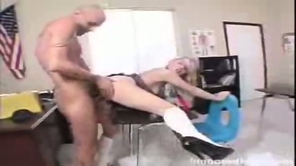 Alluring blonde chick Kylee Reese gets rammed by her prof in doggy position - scene 5