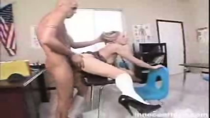 Alluring blonde chick Kylee Reese gets rammed by her prof in doggy position - scene 6