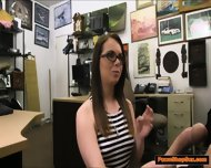 Nerdy Girl Will Do Anything For Money And Is Fucked In Backoffice