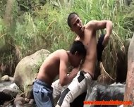 Latino Twink Barebacking Outdoors