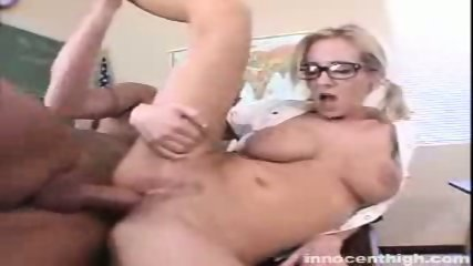 Busty Hillary Scott gets her tight pussy rammed by the principal - scene 4
