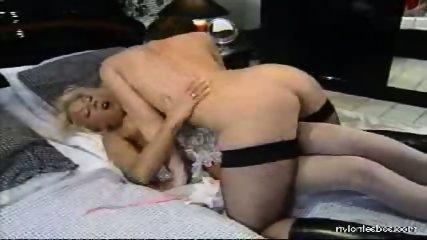 Sexual adventures of a nylon lesbian babe - scene 2