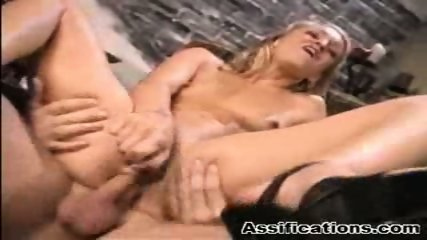 Blonde babe gets an extreme ass fucking and a nasty facial - scene 10