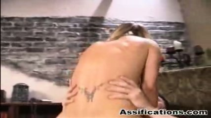 Blonde babe gets an extreme ass fucking and a nasty facial - scene 2