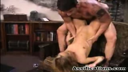 Blonde babe gets an extreme ass fucking and a nasty facial - scene 6
