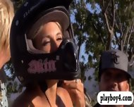 Seductive Badass Hotties Sand Boarding And Dirty Biking