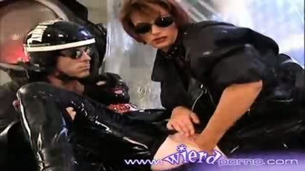 Latex covered lesbian gets fisted by her girlfriend - scene 8