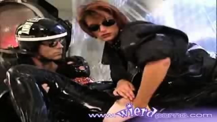 Latex covered lesbian gets fisted by her girlfriend - scene 9