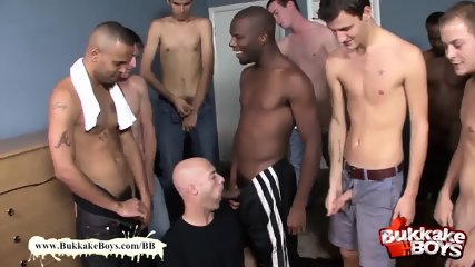 Bald stud likes bukkake