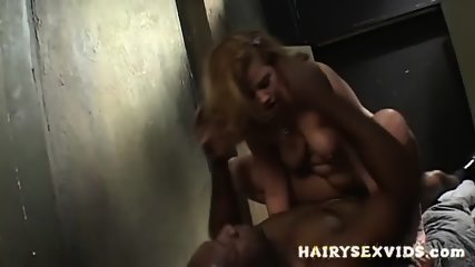 Hairy Slut Fucks Ebony Guy