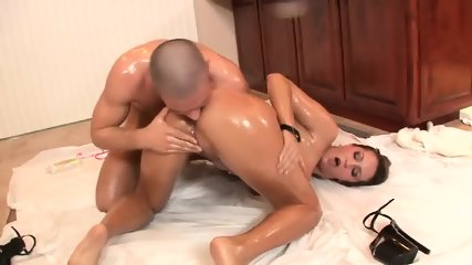 Trina Michaels Does Anal With Her Oiled Body