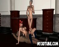 Geeky 3d Redhead Licking A Pussy While Getting Fucked - scene 5