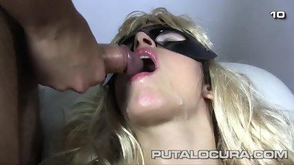 Masked Bitch Eats Cum - scene 10