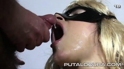 Masked Bitch Eats Cum - scene 12