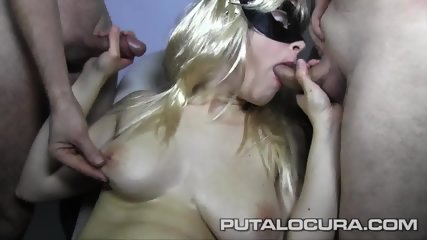 Masked Bitch Eats Cum - scene 3