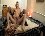 European Mom In Bed Action