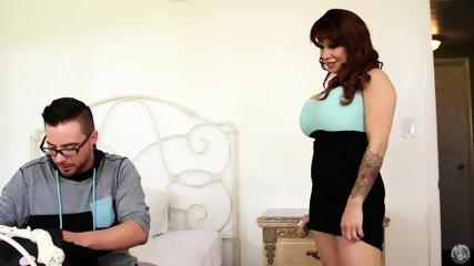 Redhead Mommy Eats Dick - scene 1