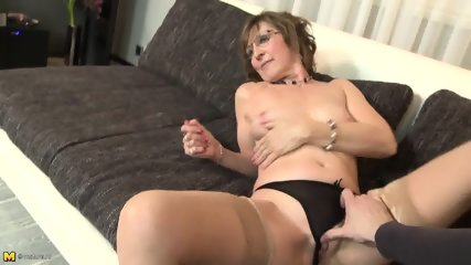 Mature Lady With Stockings Is Good Cock Rider - scene 3
