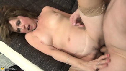 Mature Lady With Stockings Is Good Cock Rider - scene 5