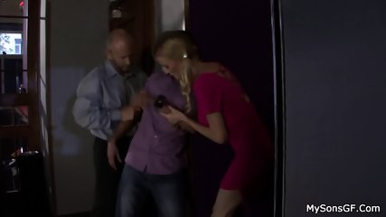 Dad Fucks Son's Girlfriend - scene 3