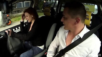 Quickie With Redhead In Taxi - scene 1