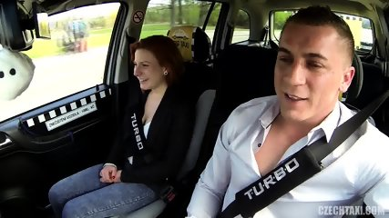 Quickie With Redhead In Taxi - scene 3