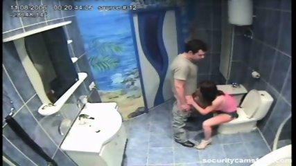 Couple caught in public bathroom pt1 - scene 12