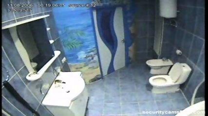 Couple caught in public bathroom pt1 - scene 1