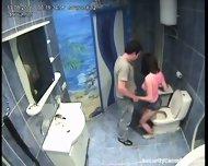 Couple caught in public bathroom pt1