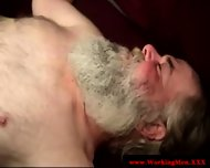 Mature bear sucking cock in nightvision