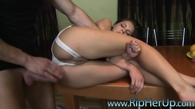 Brutal Anal Sex On Table
