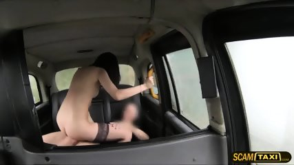 This Lovely Brunette Chick Gets Creampie After Getting Fucked By The Driver - scene 8