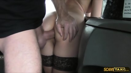 This Lovely Brunette Chick Gets Creampie After Getting Fucked By The Driver - scene 11