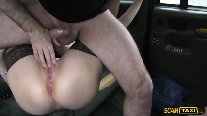 This Lovely Brunette Chick Gets Creampie After Getting Fucked By The Driver - scene 6