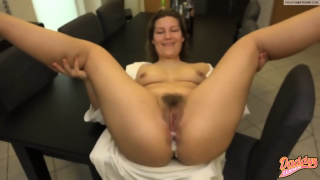 Mom Has Cum In Her Hairy Cunt