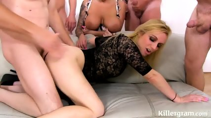 Blonde Babe With Cum On Pussy After Gang Bang