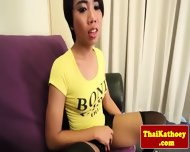 Teen Thai Ladyboy Teasingly Solo Plays