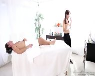 Busty Masseuse With Glasses Takes Care Of Dick - scene 4